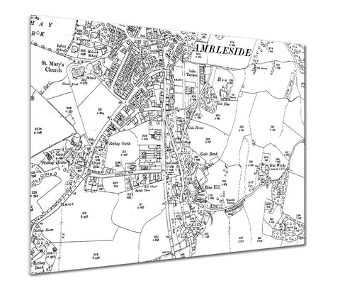 Map Poster - Custom Vintage Ordnance Survey - Victorian Street Map - High Detail