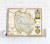 Map Canvas - Vintage County Map - Herefordshire - Love Maps On... - 2