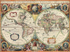 Map Wallpaper - Hondius World Map - Love Maps On... - 4
