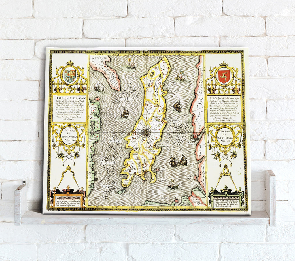 Map Canvas - Vintage County Map - Isle of Man - Love Maps On...