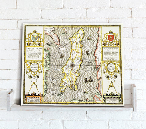 Map Canvas - Vintage County Map - Isle of Man