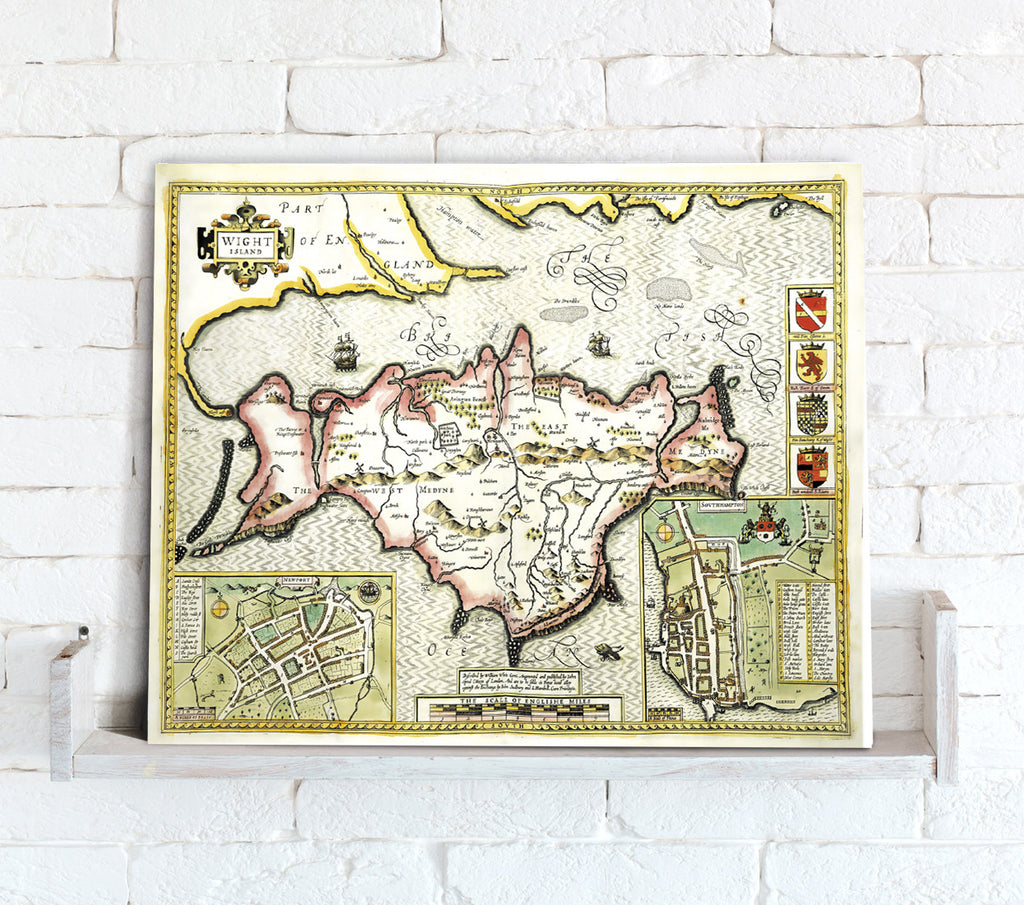 Map Canvas - Vintage County Map - Isle of Wight - Love Maps On...