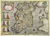 Map Canvas - Vintage County Map - Ireland - Love Maps On... - 2