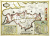 Map Canvas - Vintage County Map - Isle of Wight - Love Maps On... - 2