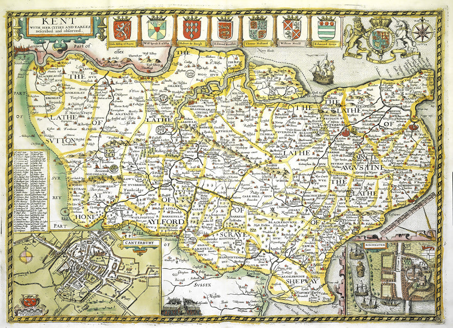 Map Wallpaper - Vintage County Map - Kent from Love Maps On...