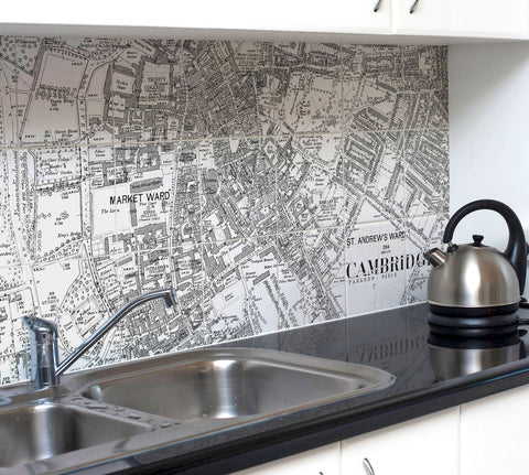 Ceramic Map Tiles - Personalised Vintage Ordnance Survey High Detail Victorian Street Map