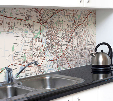 Ceramic Map Tiles - Personalised Ordnance Survey Street Map Classic