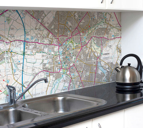 Ceramic Map Tiles - Personalised Ordnance Survey Explorer Map