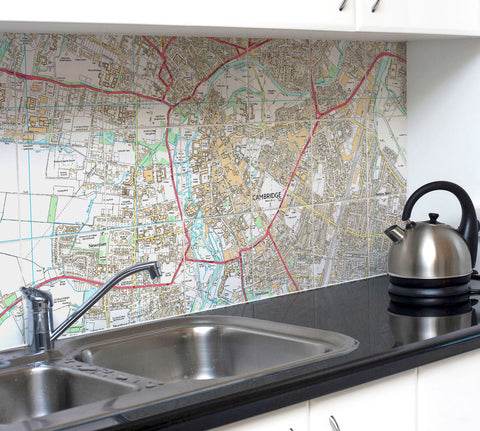 Ceramic Map Tiles - Personalised Ordnance Survey Street Map - High Detail