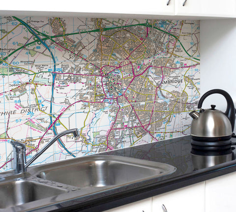 Ceramic Map Tiles - Personalised Ordnance Survey Landranger Map