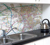 Ceramic Map Tiles - Personalised Ordnance Survey Landranger Map - Love Maps On... - 1