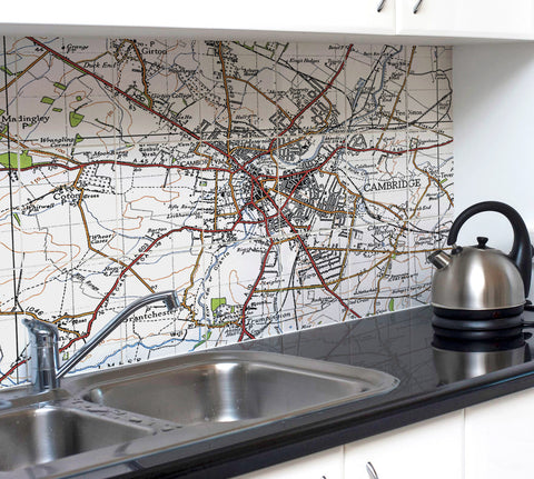 Ceramic Map Tiles - Personalised Vintage Ordnance Survey 1940's (New Popular Series)