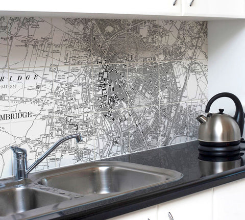 Ceramic Map Tiles - Personalised Vintage Ordnance Survey Victorian Street Map