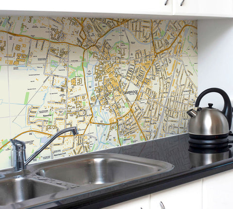 Ceramic Map Tiles - Personalised Ordnance Survey Street Map