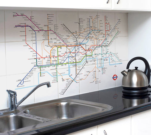 Ceramic Map Tiles - London Underground Map