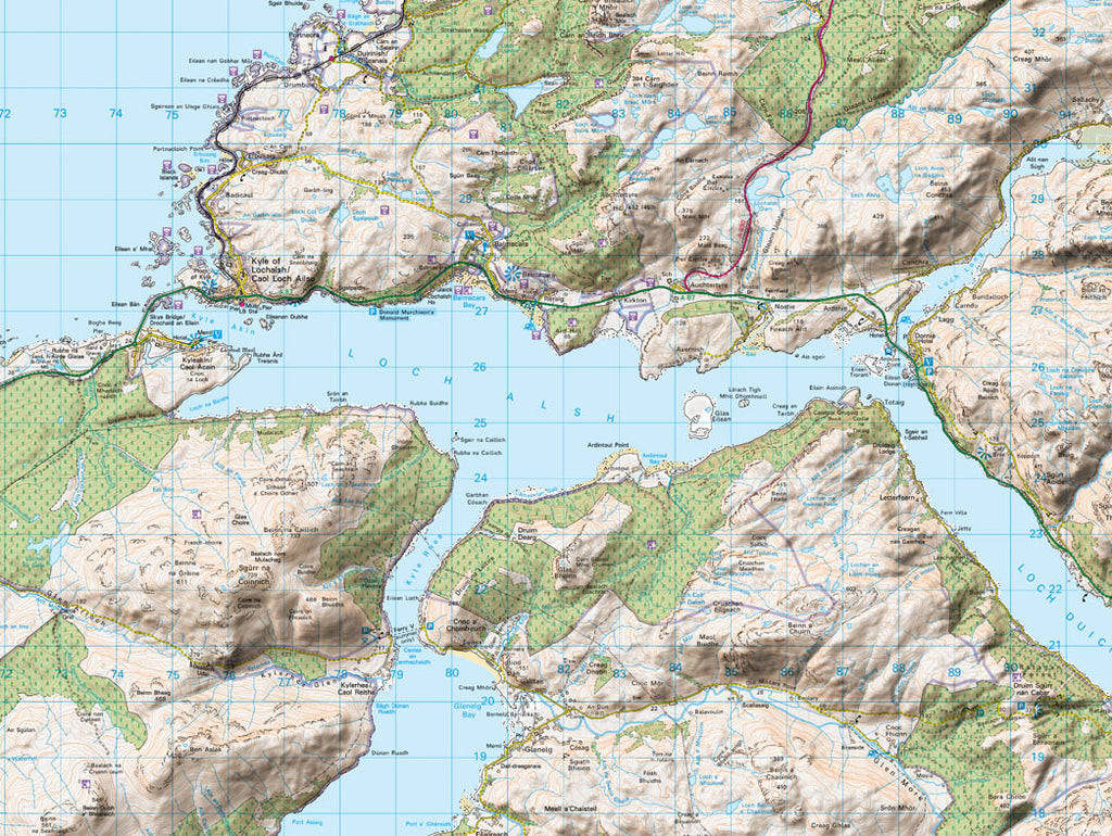 Map Canvas - Personalised Ordnance Survey Landranger Map with Hillshading (optional inscription) Canvas Print- Love Maps On...
