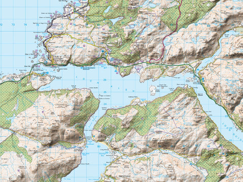 Map Canvas - Personalised Ordnance Survey Landranger Map with Hillshading (optional inscription)