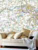 Map Wallpaper - Custom Ordnance Survey Landranger Map - Love Maps On... - 3