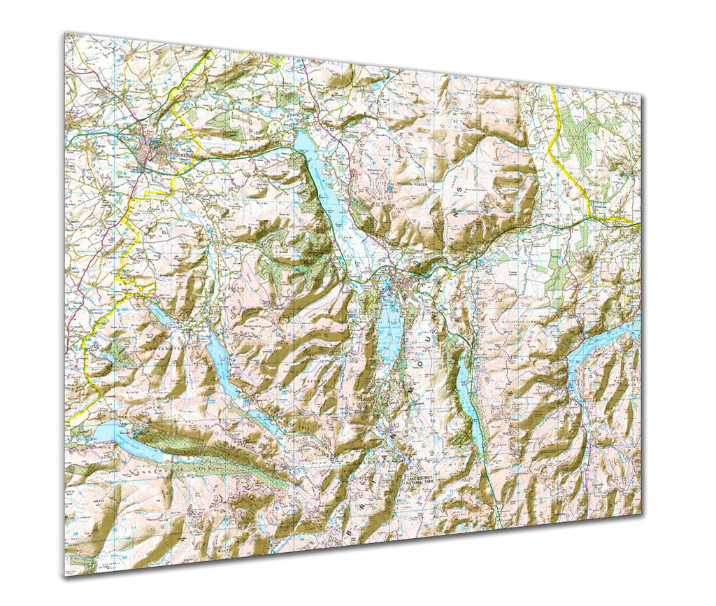 Map Poster - Custom Ordnance Survey Landranger Map with hillshading - Love Maps On... - 1