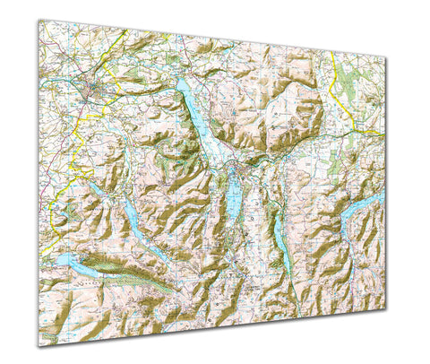 Map Poster - Custom Ordnance Survey Landranger Map with hillshading