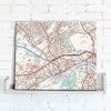 Map Canvas - Personalised Ordnance Survey Street Map - Classic (optional inscription) - Love Maps On... - 2