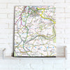 Map Canvas - Personalised Ordnance Survey Landranger Map (optional inscription) - Love Maps On...