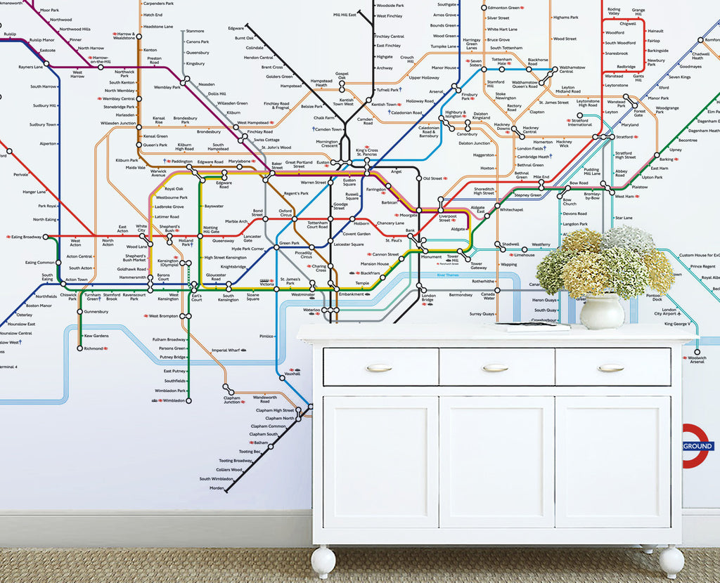 Map Wallpaper - London Underground Map - Love Maps On... - 1