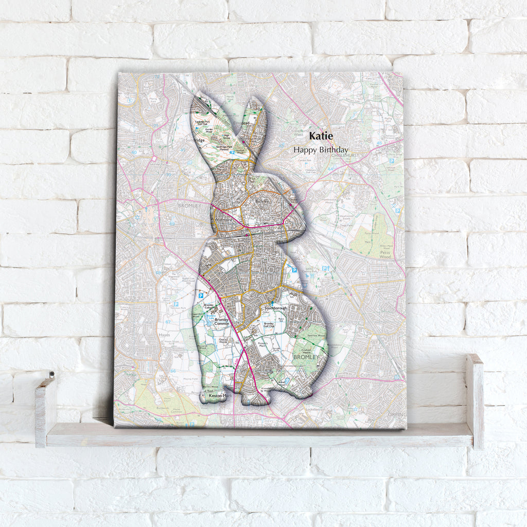 Personalised Rabbit Map