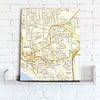 Map Canvas - Personalised Ordnance Survey Street Map (optional inscription) - Love Maps On... - 3