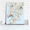 Map Canvas - Personalised Ordnance Survey Explorer Map (optional inscription) - Love Maps On...