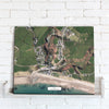 Map Canvas - Personalised Aerial Imagery (optional inscription) Canvas Print- Love Maps On...