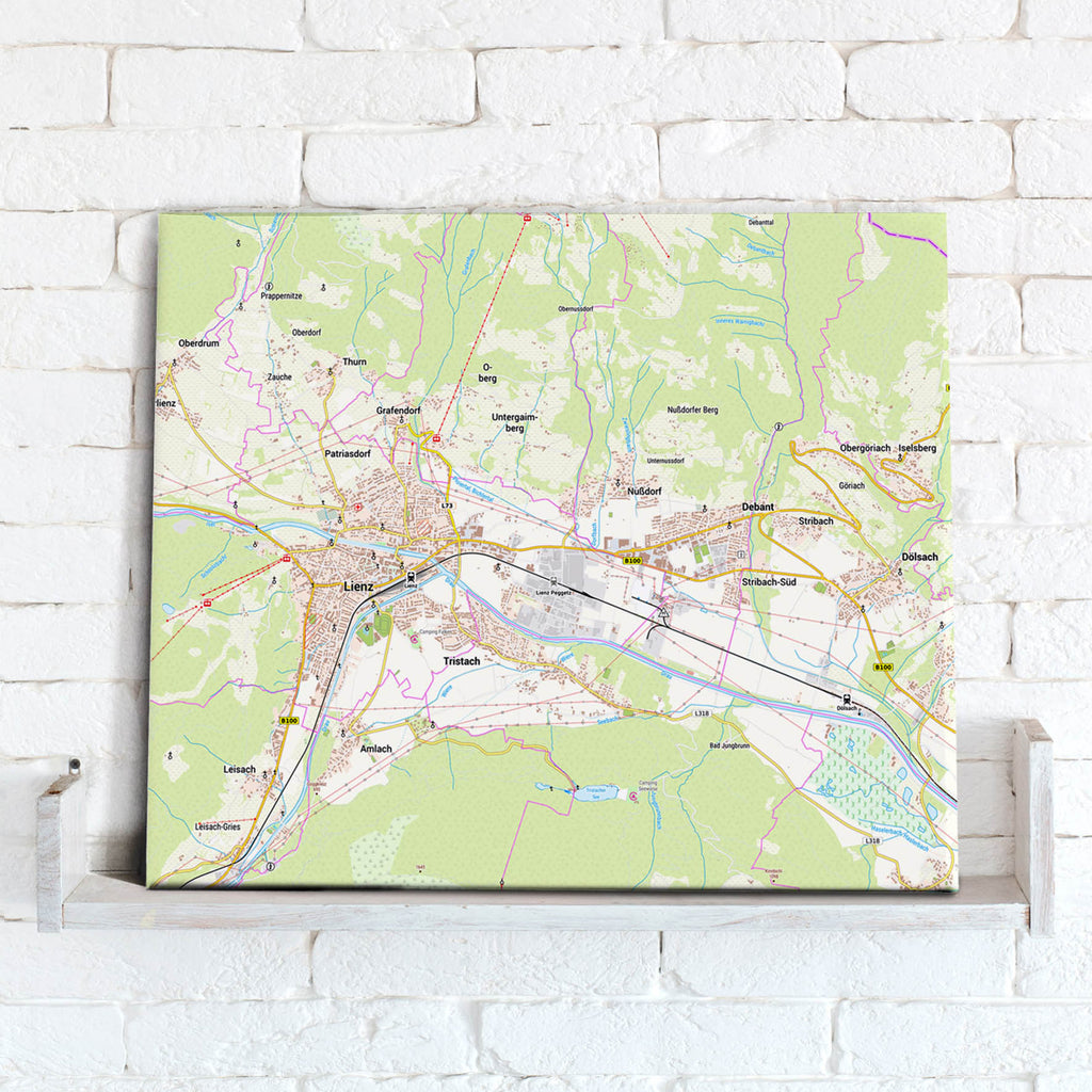 Map Canvas - Germany 1:25,000 - postcode centred