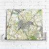 Map Canvas - Netherlands 1:25,000 - postcode centred
