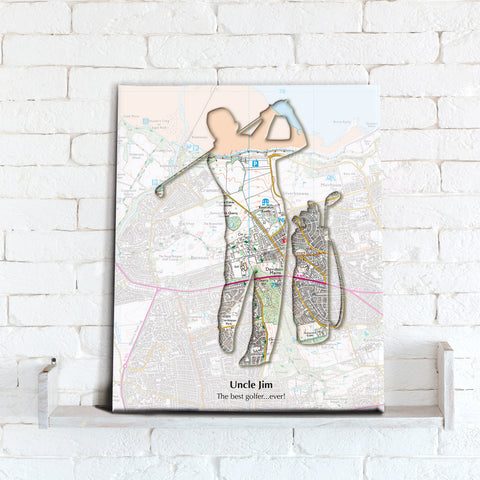 Personalised Golf Map