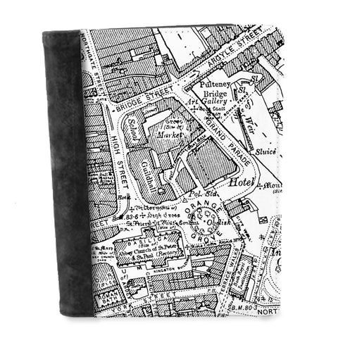 Personalised Vintage Map Notepad - High Detail Victorian Street Map