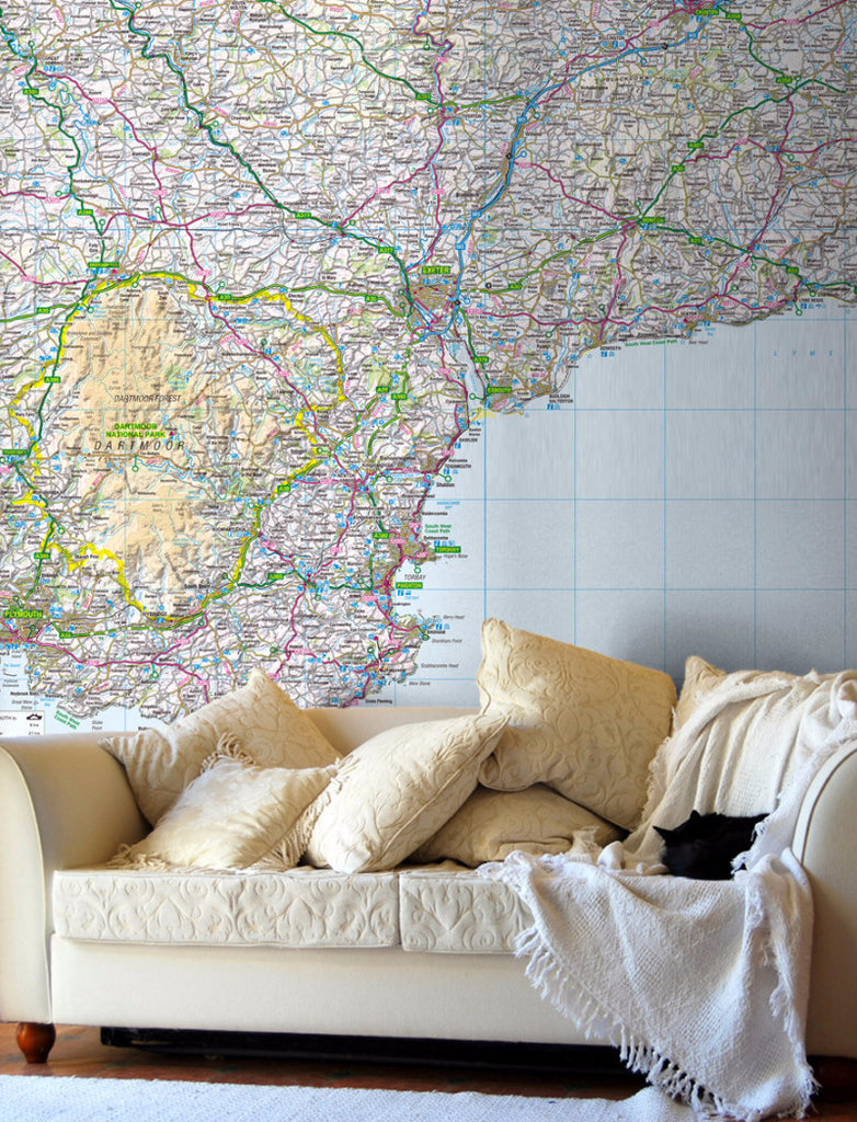 Map Wallpaper - Custom Regional GB Mapping - Love Maps On... - 1