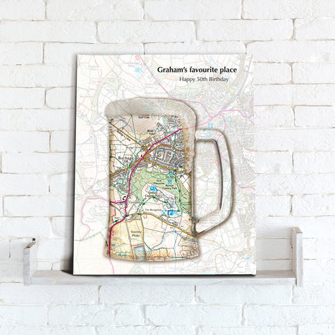 Personalised Tankard Map