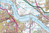 Map Canvas - London Ordnance Survey Landranger Map with Hillshading Canvas Print- Love Maps On...