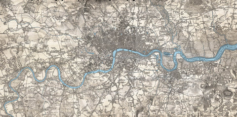 Map Canvas - London Ordnance Survey Tinted Old Series Map (1805-1822)