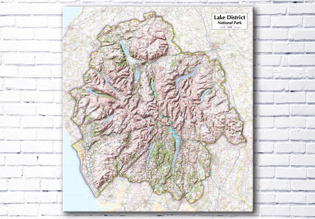 Lake District National Park Map Canvas Print - love maps on...