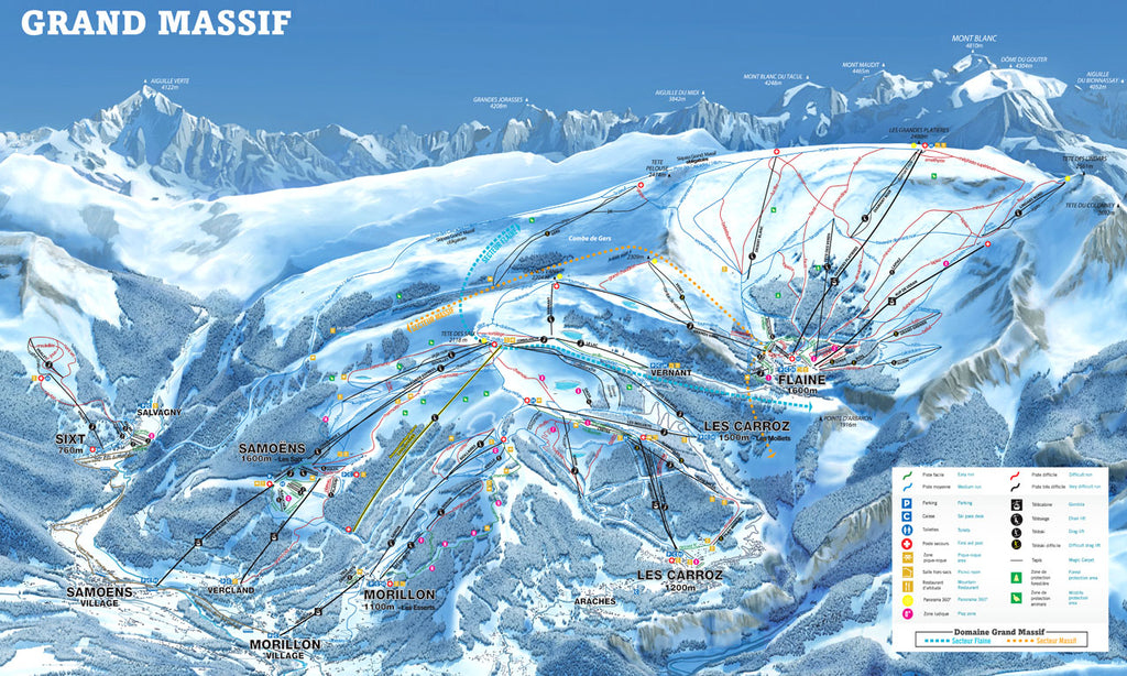Grand Massif - Piste Map Canvas Print Canvas Print- Love Maps On...