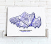 Football Stadium Map - Canvas Print - Love Maps On... - 16