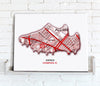 Football Stadium Map - Canvas Print - Love Maps On... - 17