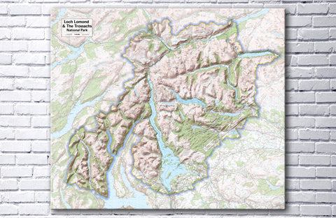 Loch Lomond & The Trossachs National Park - Map Poster