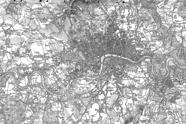 Map Canvas - Ordnance Survey Old Series Map of London - Love Maps On... - 4