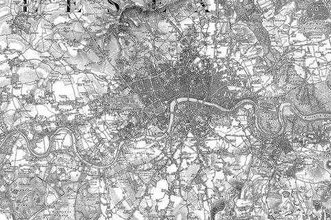 Map Canvas - Ordnance Survey Old Series Map of London