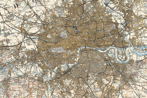 Map Canvas - Ordnance Survey Revised New Series Map of London (1897)