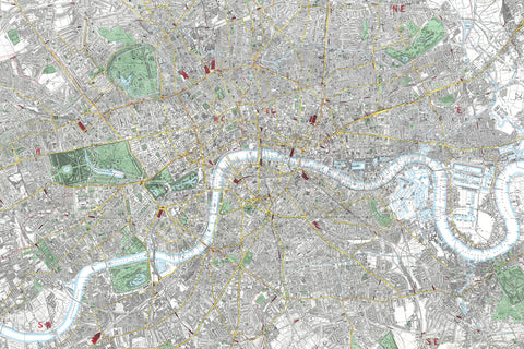 Map Canvas - Stanfords Map of London, 1891