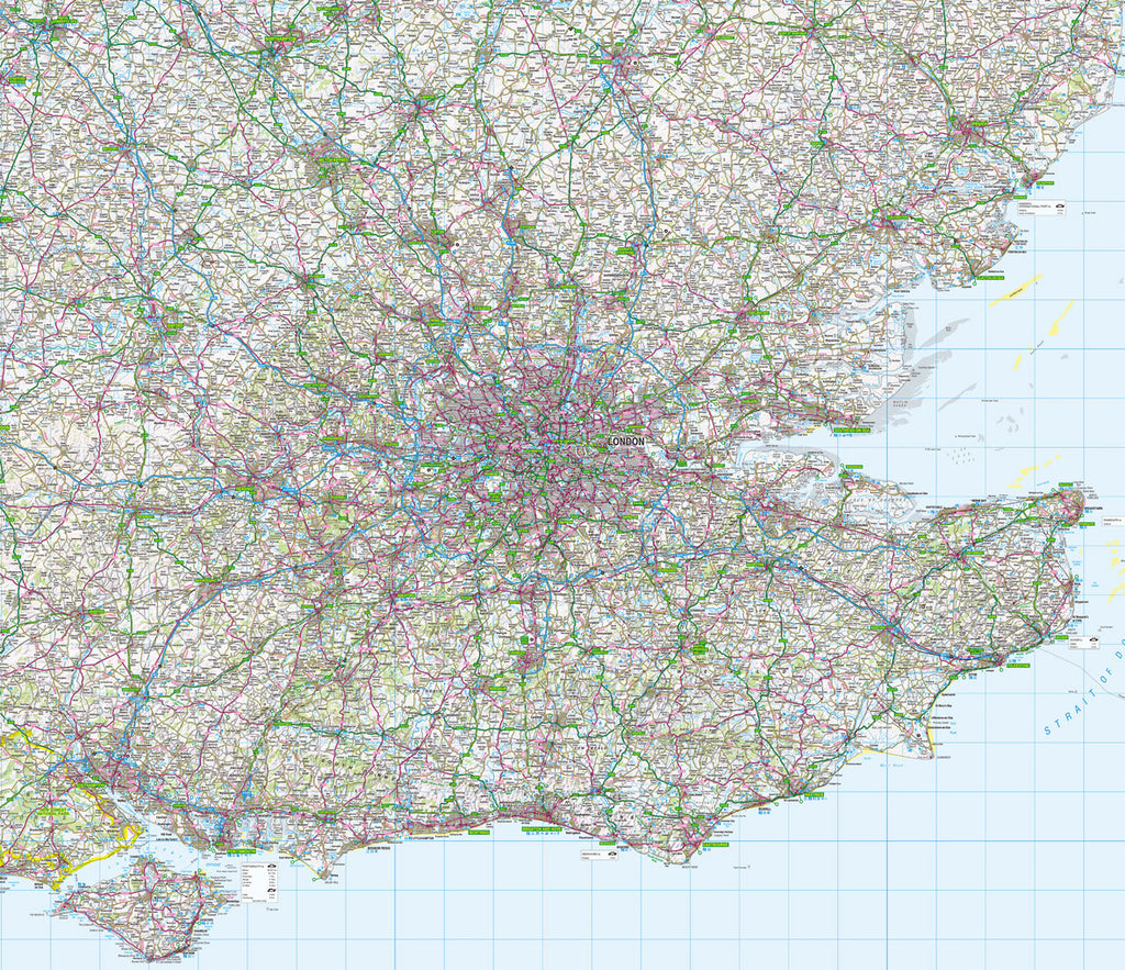 Map Wallpaper  - London and the Southeast - Love Maps On...