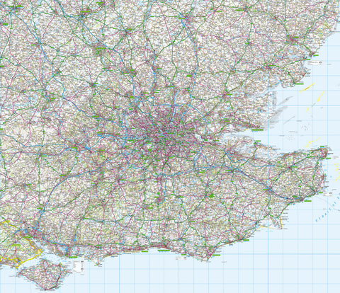 Map Wallpaper  - London and the Southeast